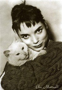 elsa martinelli and cat