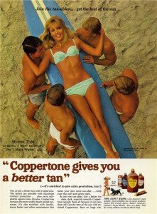 sharon tate pour Coppertone